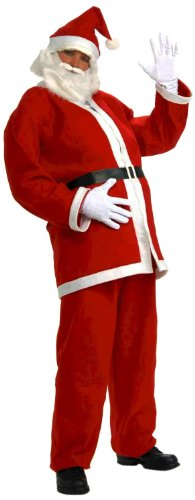 Forum Novelties Men's Plus-Size Simply Santa Claus Costume, Multi, X-Large