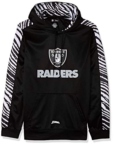 - Zubaz NFL Oakland Raiders Mens Pullover Hood, Black XX-Large