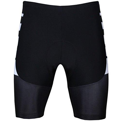 PaladinSport Men's Bike Shorts Size XXXXXXL Black Stripes