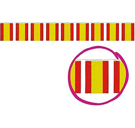 GUIRMA Bolsa 50 Metros de Banderas España plastico: Amazon.es: Juguetes y juegos