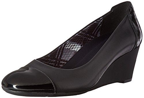 Naturalizer Women's Necile Wedge Pump, Black, 8 M (Naturalizer Wedge Shoes)