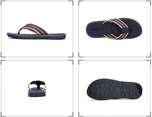 Flip-folps Sklisikker Såle Basseng Sko Y-stil Thong Sandaler Anti-stinker Strand Baderoms Lysbilder, Menns Størrelse Grå