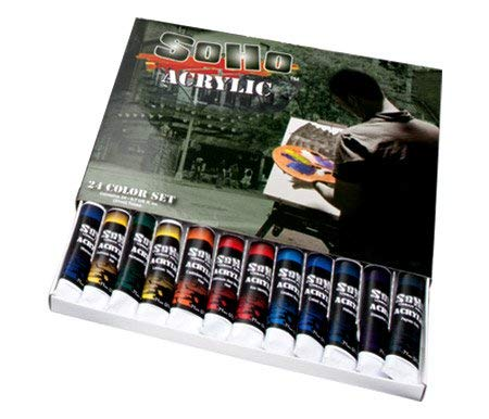 Soho Urban Artist Heavy Body Acrylic Paint High Pigment Perfect for Canvas, Wood, Ceramics with Excellent Coverage for Professionals and Students - Value Set of 24 - Assorted Colors