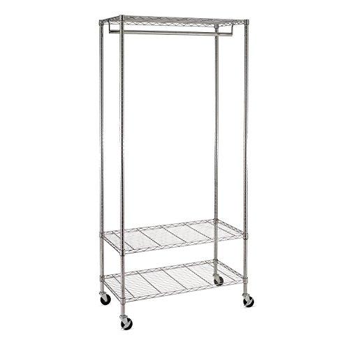 Honey-Can-Do GAR-02079 3-Shelf Deluxe Garment Rack ()