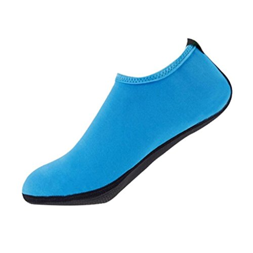 OverDose Unisex Barefoot Water Skin Shoes Aqua Socks for Beach Swim Surf Yoga Exercise Blue hlrqpefJ8K