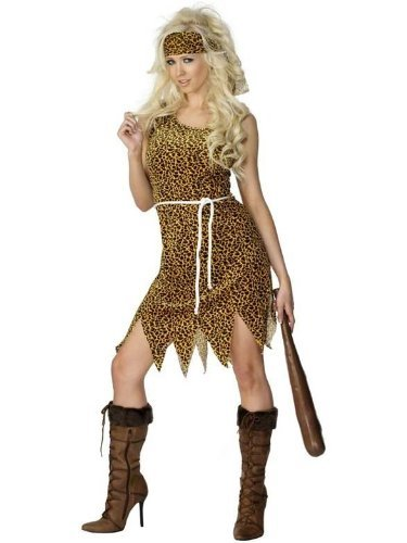 Cavewoman Fancy Dress Cave Girl Fancy Dress Cave Woman Costume With or Without Club UK 8-18 MEDIUM COSTUME ONLY by (Fancy Dress Cave Girl)