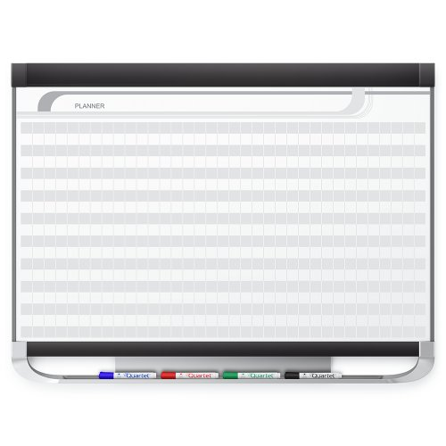Quartet Prestige 2 Magnetic DuraMax Porcelain Planning System, 4 x 3 Feet Board with 1 x 1 Inches Grid ()