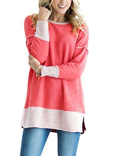 HOTAPEI Casual Crewneck Sweatshirt Blouses
