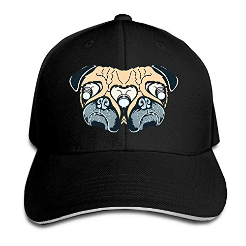 Cowboy Hats Cowgirl Pug for Men Denim Sport Hat Women Art Cap Skull pxnqCw