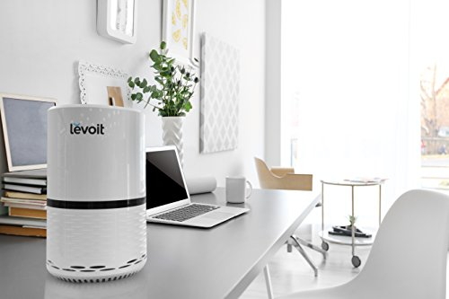 LEVOIT LV-H132 Air Purifier for Home with True HEPA Filter, Odor Allergies Eliminator for Smokers, Smoke, Dust, Mold, Pets, Air Cleaner with Optional Night Light, US-120V, White, 2-Year Warranty