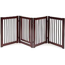 """Primetime Petz 360 Configurable Dog Gate with Door – Indoor Freestanding Walk Through Wood Pet Gate (30"""")"""