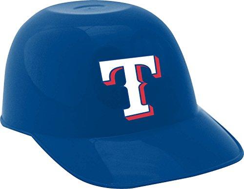 (Jarden Sports Licensing MLB Texas Rangers Ice Cream Size Six Pack Helmet Snack Bowl, Mini, Blue)