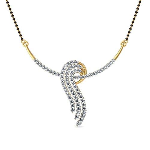 14K Or jaune 1,18CT TW White-diamond (IJ | SI) Mangalsutra
