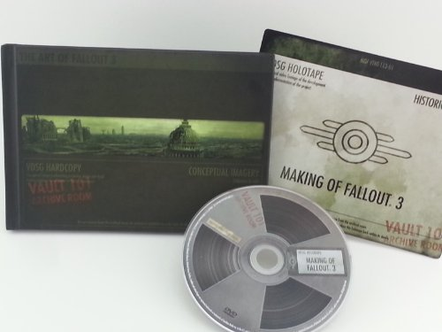 Fallout 3 Collector's Edition: The Making of DVD and Art Book with Conceptual Imagery Vault Archive Room -