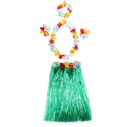 MiyaSudy MiyaSudy Baby Girls Hula Grass Skirt Set Hawaiian Costume Beach skirt Performance Colorful Skirt 2-6 Years -