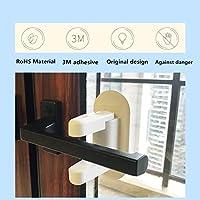 2 Pack Door Lever Lock for Child//Pets Proof Baby Proofing Door Handle Lock 3M Adhesive Child Safety Locks DorAn