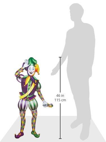 Beistle 55369 Jointed Mardi Gras Jester, 3-Feet 2-Inch