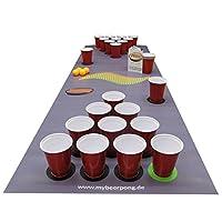 Beer Pong Set DarkGrey inklusive Spielfeld, 25 Red Solo Cups, 4 Beerpong...