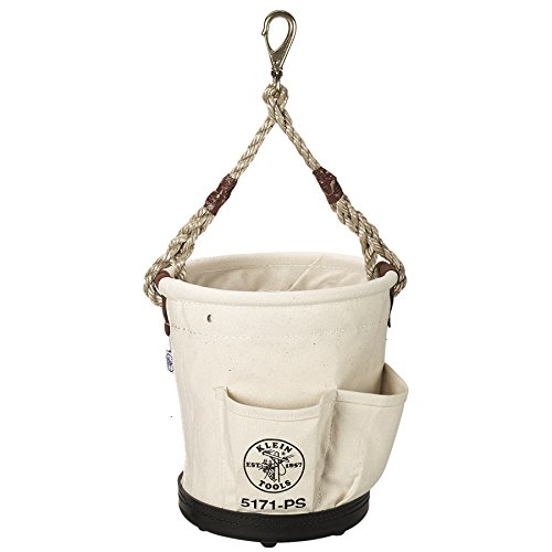 Klein Tools 5171PS Heavy-Duty Tapered-Wall Bucket with 4 Outside Pockets (12 Outside Pockets)