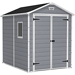 Keter Manor Large 6 x 8 ft. Resin Outdoor Backyard Garden Storage Shed