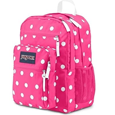 JanSport Big Student 2015 Spring Fluorescent Pink Spots