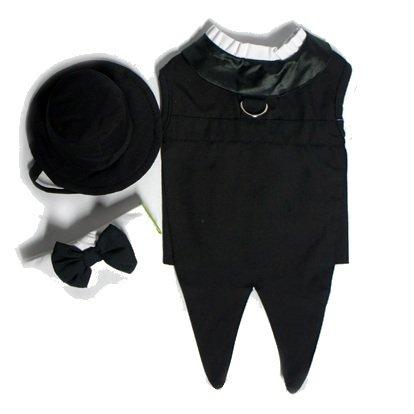 Dog Tuxedo w/ Formal Tails- Black, XXL (Chest 26-31″), My Pet Supplies