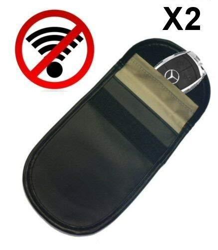Confezione da 2 x auto KEYLESS Fob Guard Signal Blocker Faraday bag –  Blocco auto furto FFS