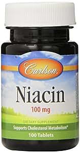 Carlson Labs Niacin, 100mg, 100 Tablets