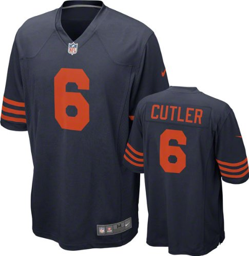 Chicago Bears Jay Cutler #6 NFL Big Boys Youth Alternate Game Jersey, Navy (Large (14-16))