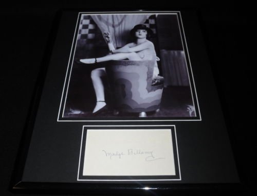 Madge Bellamy Signed Framed 11x14 Photo Display JSA - Bellamy Photo