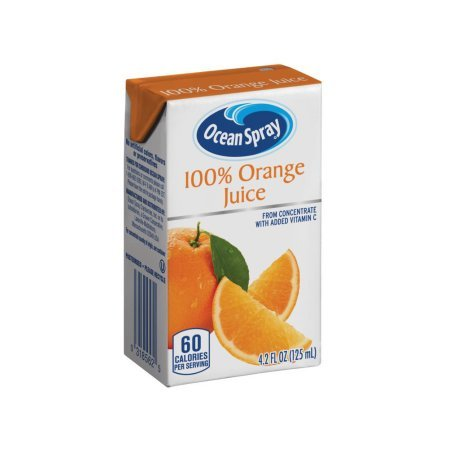 Amazon.com : Ocean Spray 100% Orange Juice, 4.2 Ounce Juice Box (Pack of 40) (Orange Juice (Pack of 40), 2 Box (80 ct)) : Grocery & Gourmet Food
