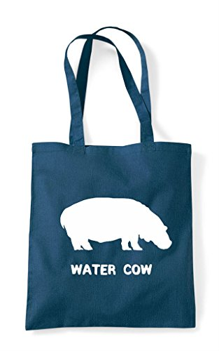 Themed Names Tote Hippo Cute Shopper Animal Petrol Funny Alternative Water Cow Bag x74Zpw11q