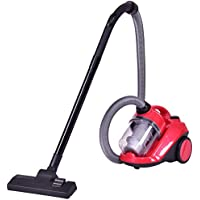 Costway Cyclonic Canister Vacuum Bagless Rewind Corded Powerful Vacuum Cleaner w/ Washable Filter Red