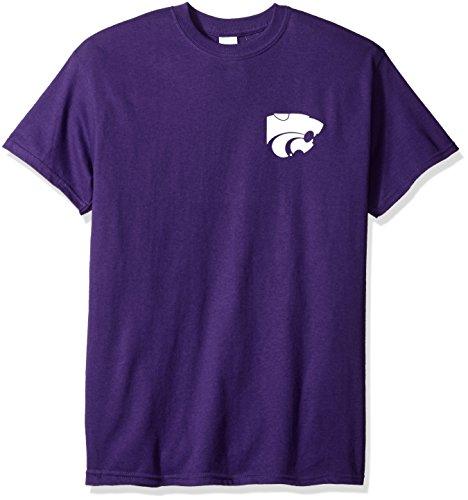 New World Graphics NCAA Floral Short Sleeve, Large, Purple -
