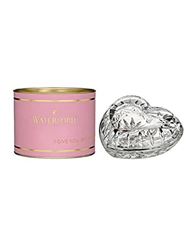 Waterford Pink Giftology Lismore Heart Box - Designers Waterford Crystal