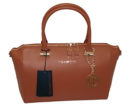 Handbag B493 Bauletto Jeans Cuoio Trussardi Levanto Borsa w41Rt