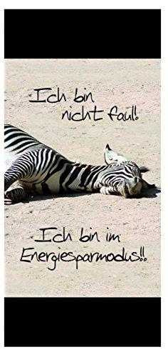 Sü-Verlag 97781 - Badetuch Xtreme Energiesparmodus Zebra