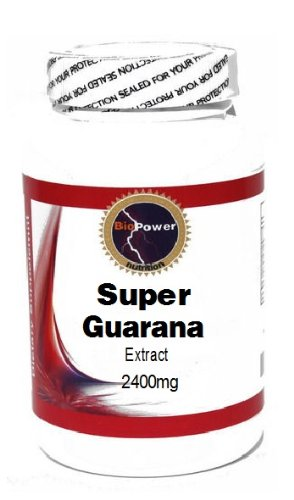 Super Guarana Extract 2400mg 200 Capsules # BioPower Nutrition