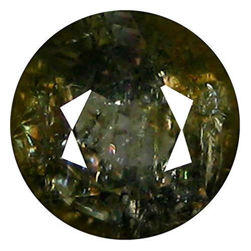 Natural Green Sapphire (1.54 ct ROUND CUT (6 x 6 mm) 100% NATURAL GENUINE UNHEATED UNTREATED CEYLON GREEN SAPPHIRE LOOSE GEMSTONE)