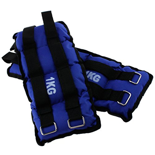 2 Pieces Fitness Gym Wrist Ankle Weights Exercise Training straps 1KG by SING F LTD