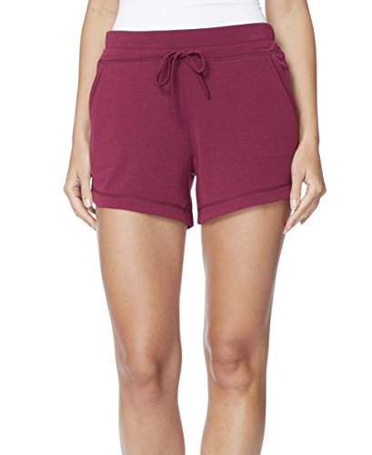 32 DEGREES Women Stretchy Pull-On Shorts, Dk Pers Red, XLarge ()