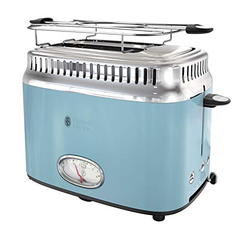 Russell Hobbs TR9150BLR Retro Style Toaster, 2-Slice, Blue