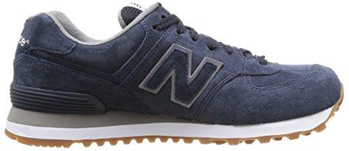 New Balance Herren 574 Sneaker blau (Navy Full Pigskin)