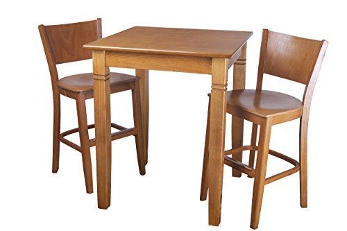 Beechwood Mountain PB-086B24W-C 3Piece Solid Beech Wood Pub Set for Kitchen & Dining, Cherry