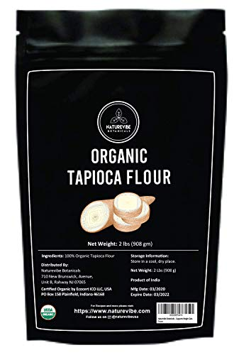 Naturevibe Botanicals Tapioca Flour, 2lbs | Gluten-Free & Non GMO | Supports Weight Gain [Packaging may vary]