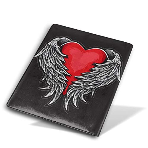 ZzFurel Heart Angel Wings Book Cover Protector Fits Most Hardcover Textbooks Up to 9 X - Cover Angels Checkbook Leather