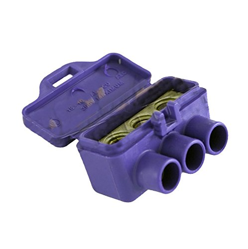 Connector Block 3 Port Splice, #18-#10, PV Rated, 300 Volts DC max. KSOL Power (2 Pack)