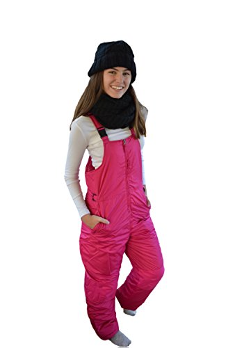 Snowsuits for Kids Youth Girl's Insulated Bib Snowpants (6X-7, Hot Pink)