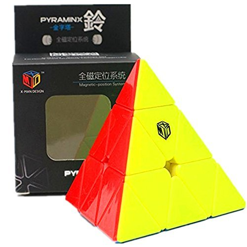 CuberSpeed Qiyi X-Man Bell Magnetic Pyramid Stickerless Magic cube Qiyi Magnetic MofangGe Pyramid color Speed cube