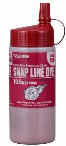 Tajima PLC3-DR300 Snap-Line Dye Chalk, Semi-Permanent - Dark Red, 10.5 oz (300 g) by Tools & Harware